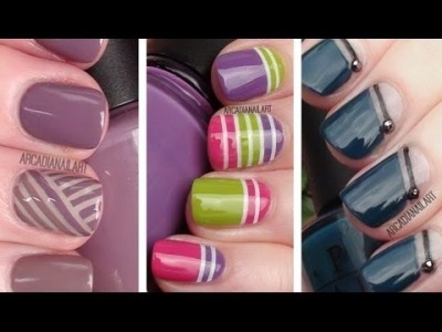 Nail Art Using Striping Tape Wife On The Go
